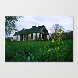 Dilapidated Farm and Mustard Seed Canvas Print