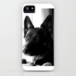 Mad Dog Longs for the Outdoors iPhone Case