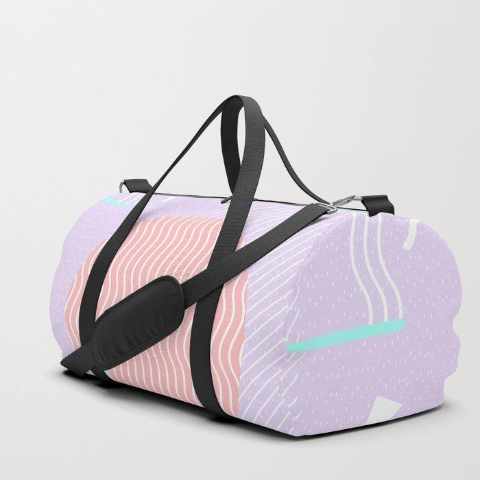 Memphis Summer Lavender Waves Duffle Bag