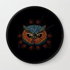 Owl Face Wall Clock
