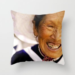 Happy Grandma_Smiling Face Throw Pillow