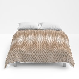 Cool Elegant Frosted Mocha Geometric Design Comforters