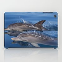 dolphins iPad Cases featuring Dolphins by Chloe Yzoard
