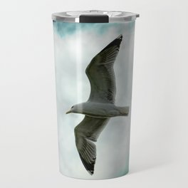 Seagull Before A Cloudy Sky Travel Mug