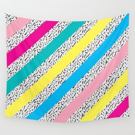 80's / 90's Stripes Wall Tapestry