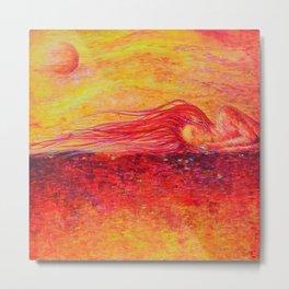 A Dream in Orange Metal Print