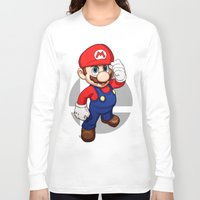 mario bros Long Sleeve T-shirts featuring Mario by Ryan Ketley