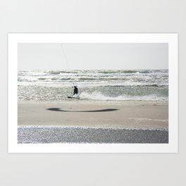 Kite surf France Art Print