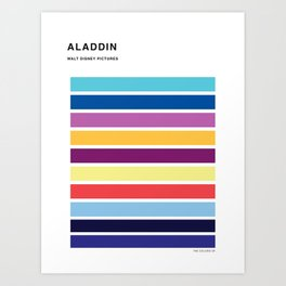 The colors of - Aladdin Art Print