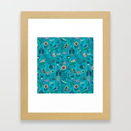 owls and insects Framed Art Print