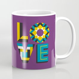 LOVE - Purple Coffee Mug
