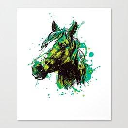 Horse horses head mane rider love splash Canvas Print