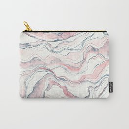 Marbled Stone Watercolor Carry-All Pouch