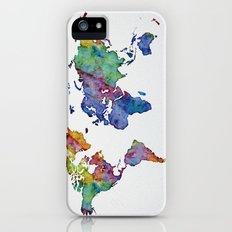 Multicolor World Map 03 Slim Case iPhone (5, 5s)