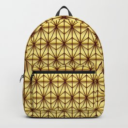 Geometric Abstract Pattern (Gold/Brown) Backpack