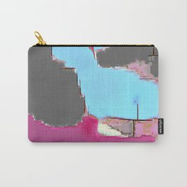 Abstract #13 in Pink Carry-All Pouch