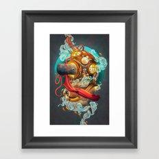 Deep Sea Diver Framed Art Print