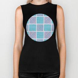 Criss cross checkered vector repeat pattern Biker Tank