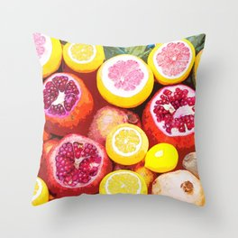 Lots of Kiwi and Oranges Throw Pillow