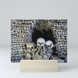Ossuary (Bones and Skulls in the Cemetery Church of All Saints) Mini Art Print