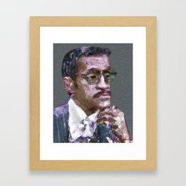 Singer, musician, actor. Portrait Framed Art Print
