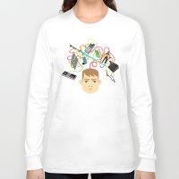 nerd Long Sleeve T-shirts featuring Nerd by Mouki K. Butt