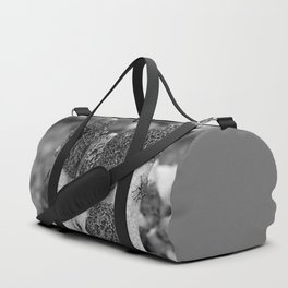 Fungi in black and white Duffle Bag