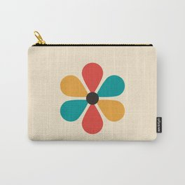 Mid Century Flower Carry-All Pouch
