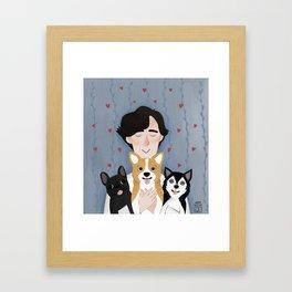 Sherlock Holmes loves pups Framed Art Print