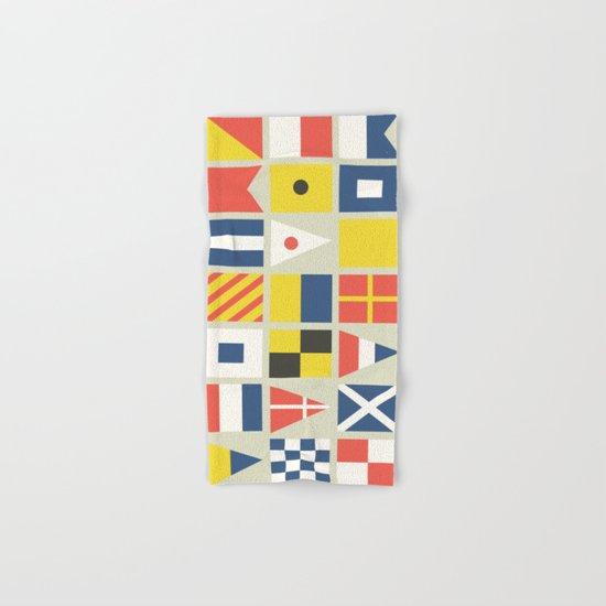 Geometric Nautical flag and pennant Hand & Bath Towel
