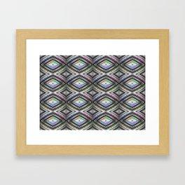Bright symmetrical rhombus pattern Framed Art Print