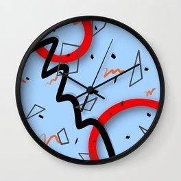Pattern of summer carnival ver Wall Clock