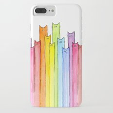 Cat Rainbow Watercolor Whimsical Animals Cats Pattern Slim Case iPhone 7 Plus