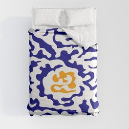 Abstraction in the style of Matisse 49 orange and blue Comforters