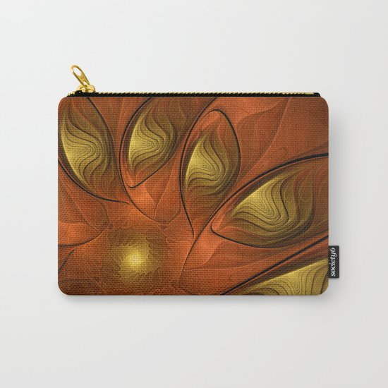 Fantasy in Copper and Gold Carry-All Pouch