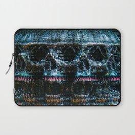 Analogue Glitch Skull Array Laptop Sleeve