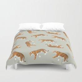 Tiger Trendy Flat Graphic Design Duvet Cover