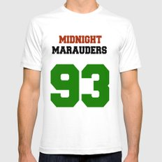 Midnight Marauders White SMALL Mens Fitted Tee