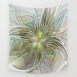 Floral Fantasy, Abstract Fractal Art Wall Tapestry