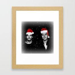 Larry Stylinson Christmas B&W Framed Art Print