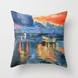Where are last night's lights Throw Pillow