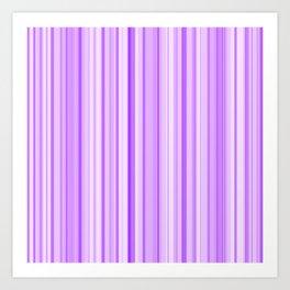 Purple Candy Stripe Art Print