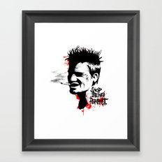 Stop Being Perfect Framed Art Print
