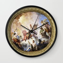 Fresco on Ceiling in Paris Wall Clock