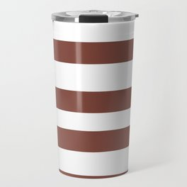 Inspired by Dunn Edwards Spice of Life DET439 Hand Drawn Fat Horizontal Lines on White Travel Mug
