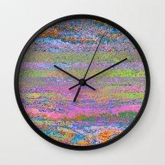 51-23-76 (Pastel Rainbow Glitch) Wall Clock