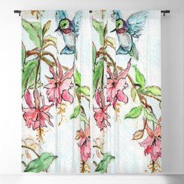 Honeysuckle Hummingbird Blackout Curtain