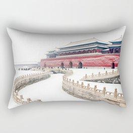 Awe Inspiring Winter Palace Forbidden City Beijing China Asia Ultra HD Rectangular Pillow