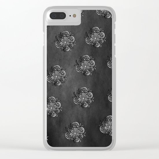 timespaceflower (black and white) ( HQ pixel ) Clear iPhone Case