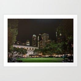 Bryant Park in New York Art Print